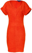 Ralph Lauren Orange suede Shiloh dress
