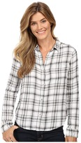 Calvin Klein Jeans Plaid Crinkle Double Cloth Long Sleeve Woven