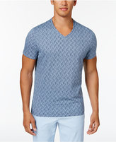 Alfani Men's Glitch-Line V-Neck T-Shirt, Only at Macy's