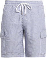 Vilebrequin Bermuda striped drawstring-waist linen shorts