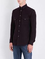 Brioni Slim-fit cotton-twill shirt