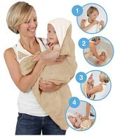 Cuddledry Bathing Apron - Oatmeal and White