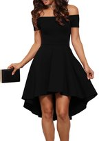 Maxwell Women's Retro 50s Off Shoulder Mini Evening Dress Vintage Skater Dress