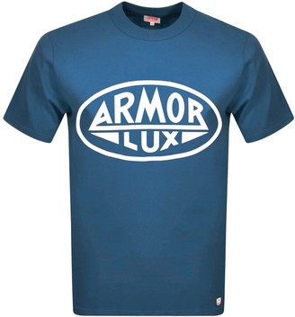 Armor Lux Heritage Serigraphy T Shirt Blue