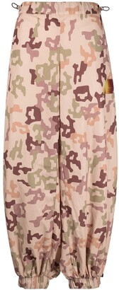 ATTICO Camouflage-Print Tapered Trousers
