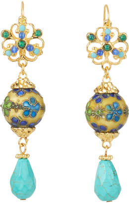 Jose & Maria Barrera Turquoise Teardrop Earrings