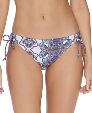 Raisins Juniors' Golden Hour Printed Side-Tie Bikini Bottoms Women's Swimsuit