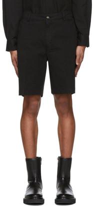 Kenzo Black Garment-Dyed Shorts