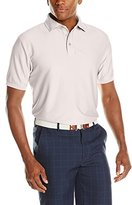 Hogan Ben Men's Golf Tone On Tone Jacquard Shirtsleeve Polo Shirt