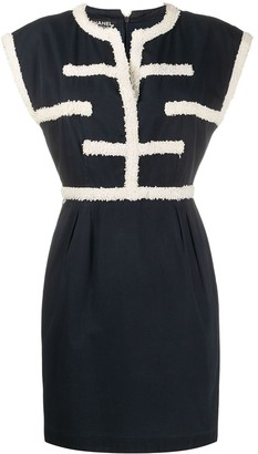 Chanel Pre Owned Textured Appliques Short Dress