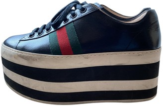 Gucci Peggy Black Leather Trainers