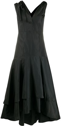 Pinko shoulder-tie ruffled dress