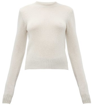 Bottega Veneta Cropped Cashmere-blend Sweater - Ivory