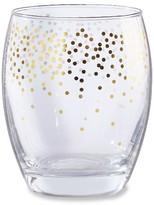 Kate Aspen Set of 4) Gold Confetti 12 oz Stemless Wine Glass