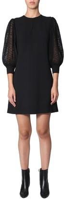 Givenchy Lace Sleeve Shift Dress