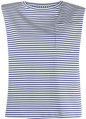Jejia stripe pattern cotton T-shirt