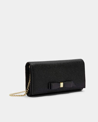 Ted Baker ALAINE Bow detail leather cross body bag