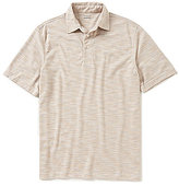 Roundtree & Yorke Travel Smart Solid Short-Sleeve Space-dyed Polo
