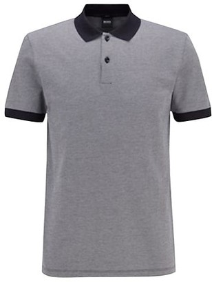 HUGO BOSS Slim-Fit Contrast Collar Polo