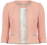 Dorothy Perkins Petite coral tweed jacket