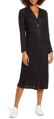 Fraiche by J Button Front Midi Dress
