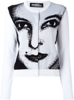 Jeremy Scott face print cardigan