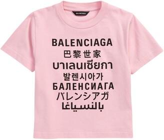 Balenciaga Kids' Logo Graphic Tee