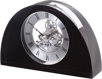 Dartington Crystal Oval Glass Clock, Black