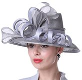 Kueeni Women Hats Stylish Hats For Wedding Mother Of Bride Hats Silver
