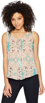 Blu Pepper Women's Sleeveless Printed Peasant Top