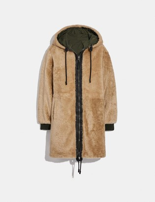 Coach Reversible Shearling Parka