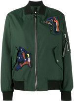 Proenza Schouler patch embellished bomber jacket - women - Cotton/Polyamide/Polyester/Viscose - 2