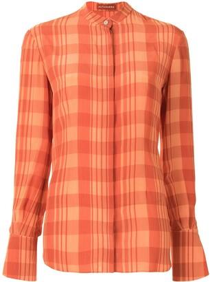 Altuzarra Oleana checked blouse