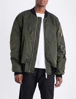 Unravel Waxed shell bomber jacket