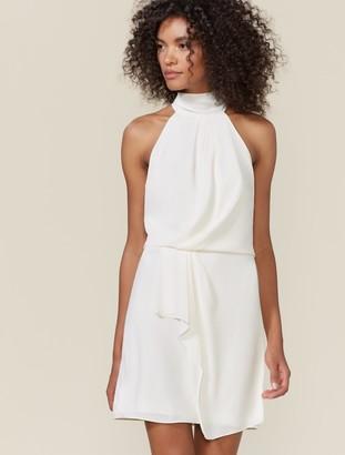 Halston Harlow Mock Neck Dress