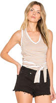 Nation Ltd. Sophie Tied Halter Top in Tan. - size L (also in M,S,XS)