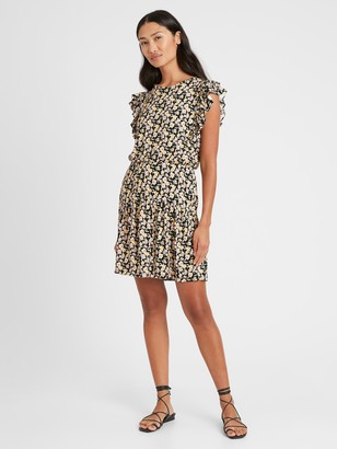 Banana Republic Ruffle-Sleeve Mini Dress