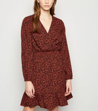 New Look Floral Mini Wrap Dress