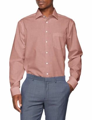 Seidensticker Men's Modern Langarm mit Kent-Kragen Bugelfrei uni Business Shirt