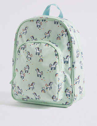 Marks and Spencer Kids Unicorn Water Repellent Backpack