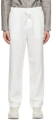 Ermenegildo Zegna White Plain Linen Trousers