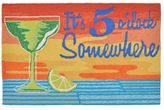 Liora Manné Trans Ocean Imports Frontporch It's 5 O'Clock Somewhere Indoor Outdoor Rug