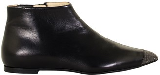 Fabiana Filippi Dea Leather Ankle Boots Black