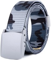 MIJIU Nylon Canvas Military Tactical Men Waist Web Belt With Plastic Buckle