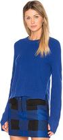 Rag & Bone Valentina Cashmere Crop Sweater in Royal
