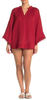 Red Carter Cover-Up Tunic