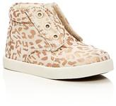 Toms Girls' Paseo Metallic Cheetah Print High Top Sneakers - Baby, Walker