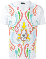 Etro paint effect printed T-shirt - men - Cotton - M