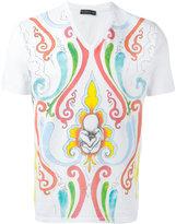 Etro paint effect printed T-shirt - men - Cotton - S