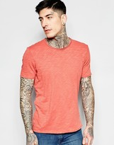 Sisley Crew Neck T-shirt In Slub Fabric